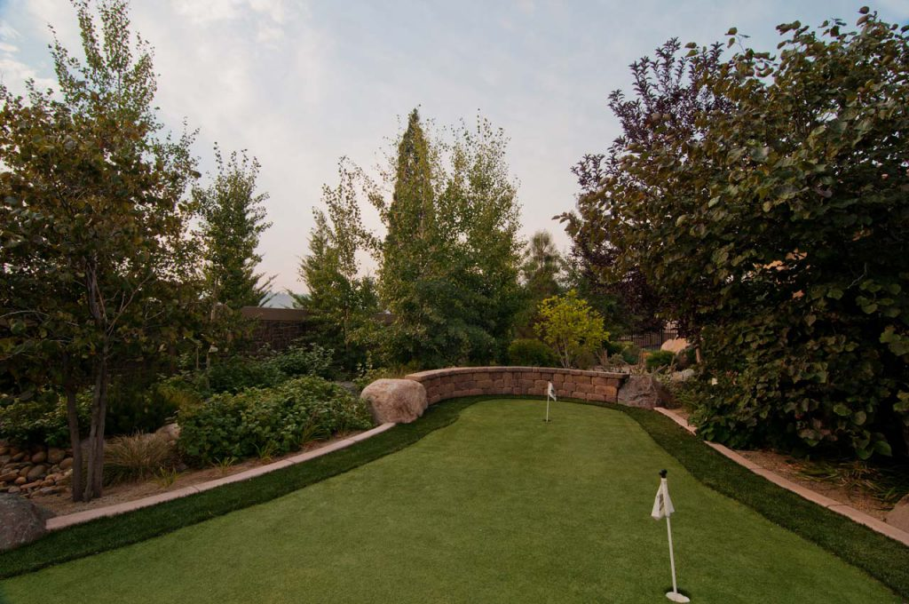 Residential Landscaping Putting Green