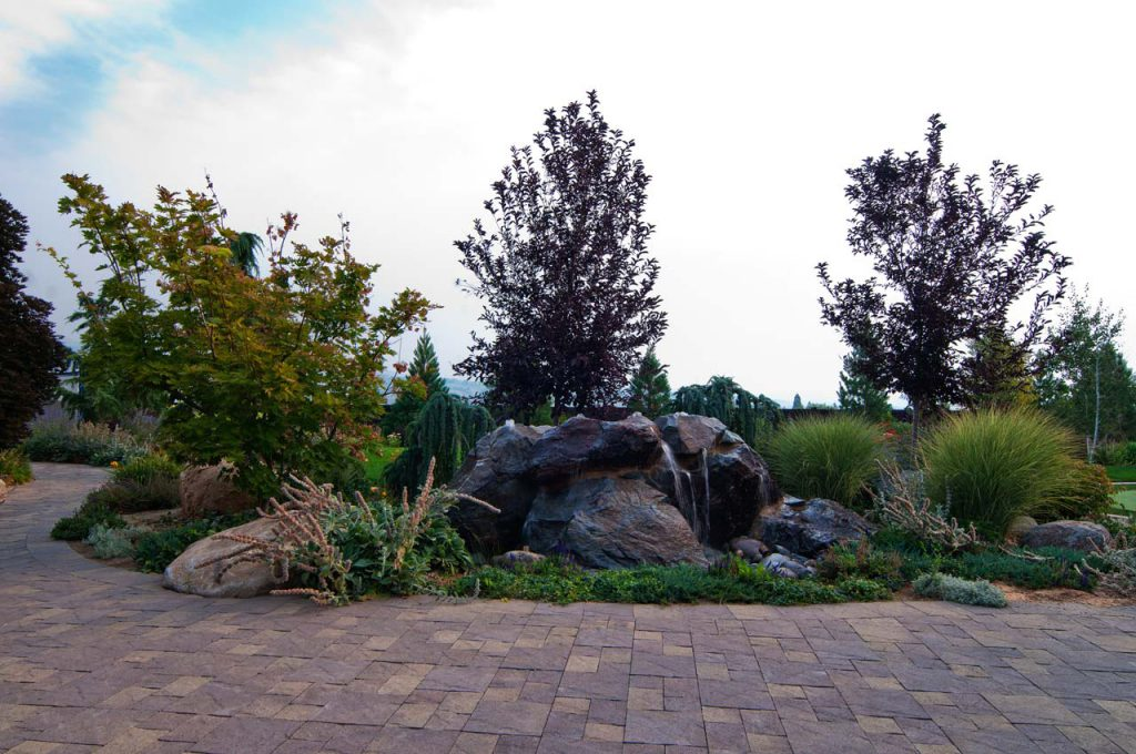 Residential Landscaping Rock Fountain