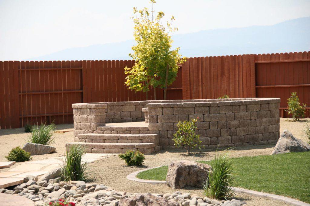Retaining Wall Installation
