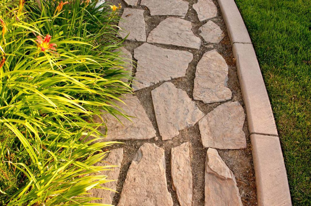 Residential Rock Path