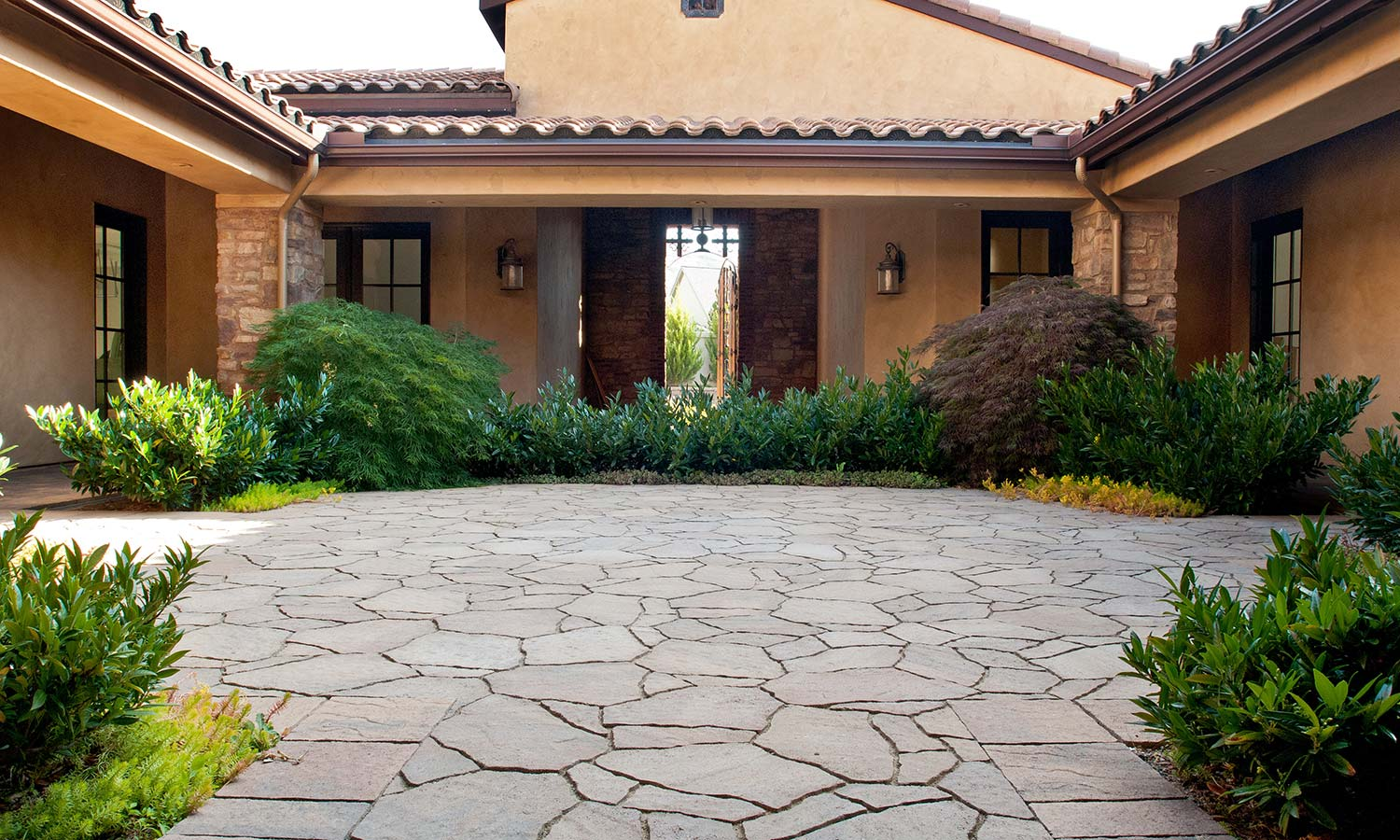Residential Home Stone Entrance