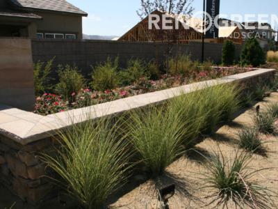 planter bed grasses