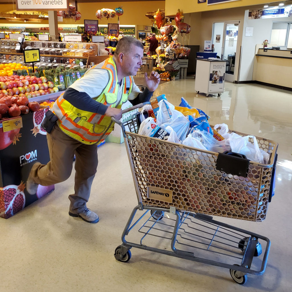 employees shopping