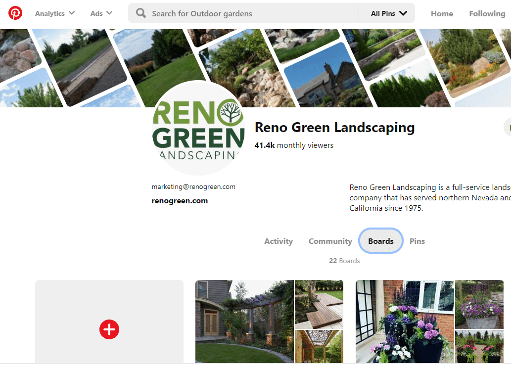 Reno Green pinterest board