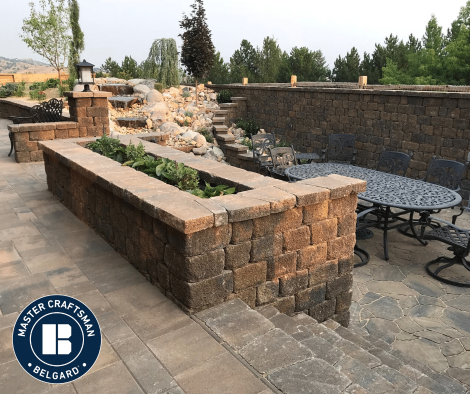 belgard paver installation backyard