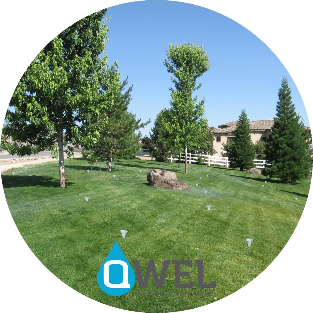 qwel water audit landscape irrigation sprinkers