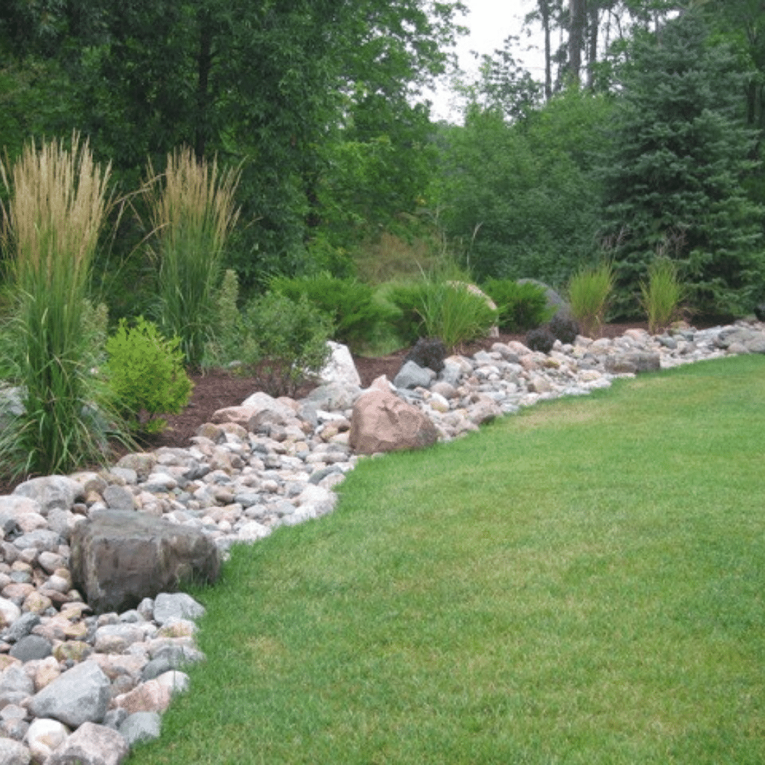 lawn dry creek bed