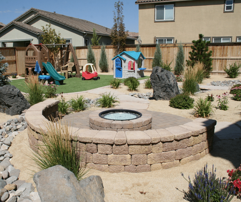 paver fire pit seating