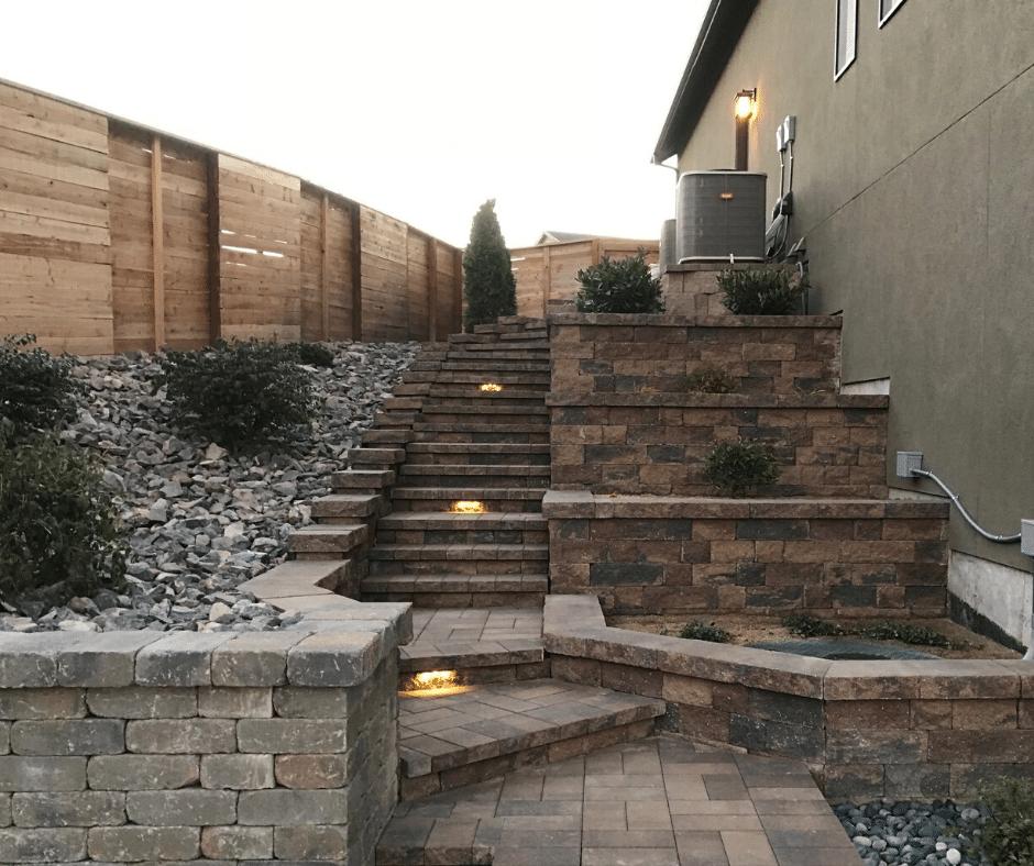 hardscaping paver steps