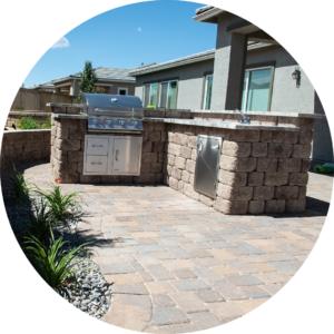 outdoor kitchen paver
