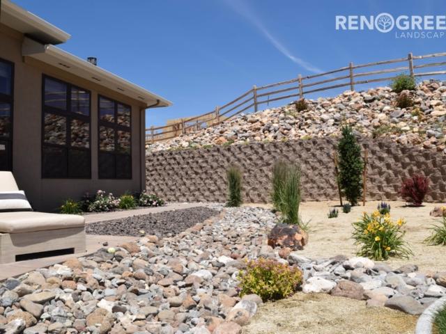backyard xeriscape rocks low maintenance