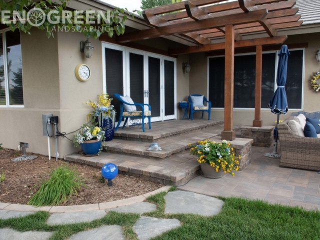 backyard renovation paver patio