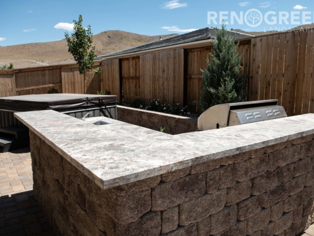 paver outdoor kitchen outdoor living