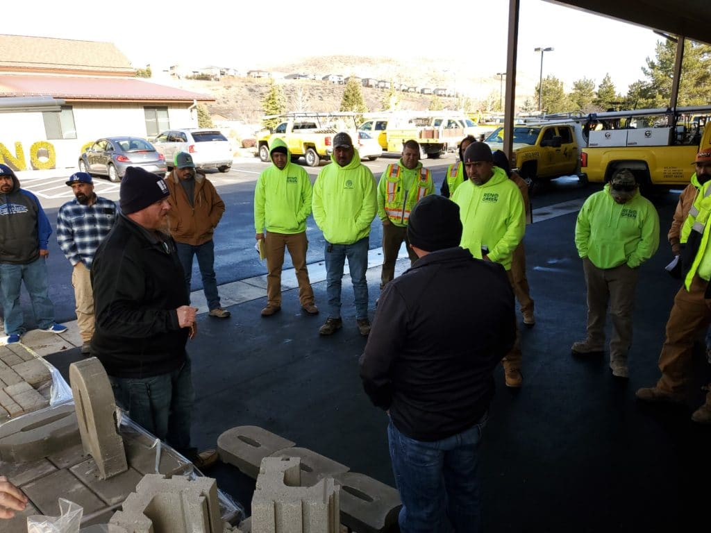 Training at Reno Green Landscaping.