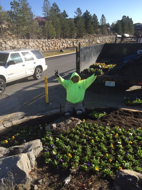 Fun at Reno Green Landscaping.