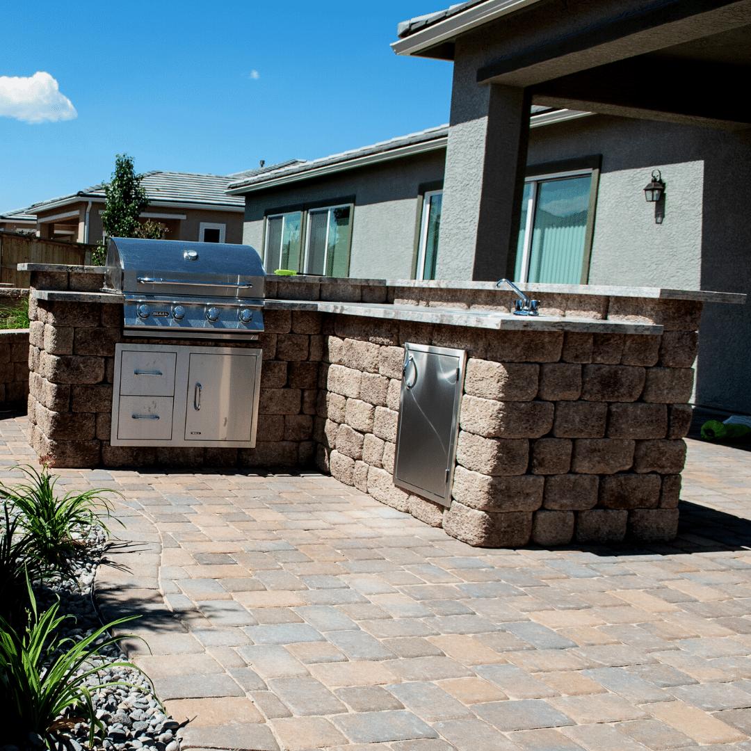 landscape design outdoor kitchen