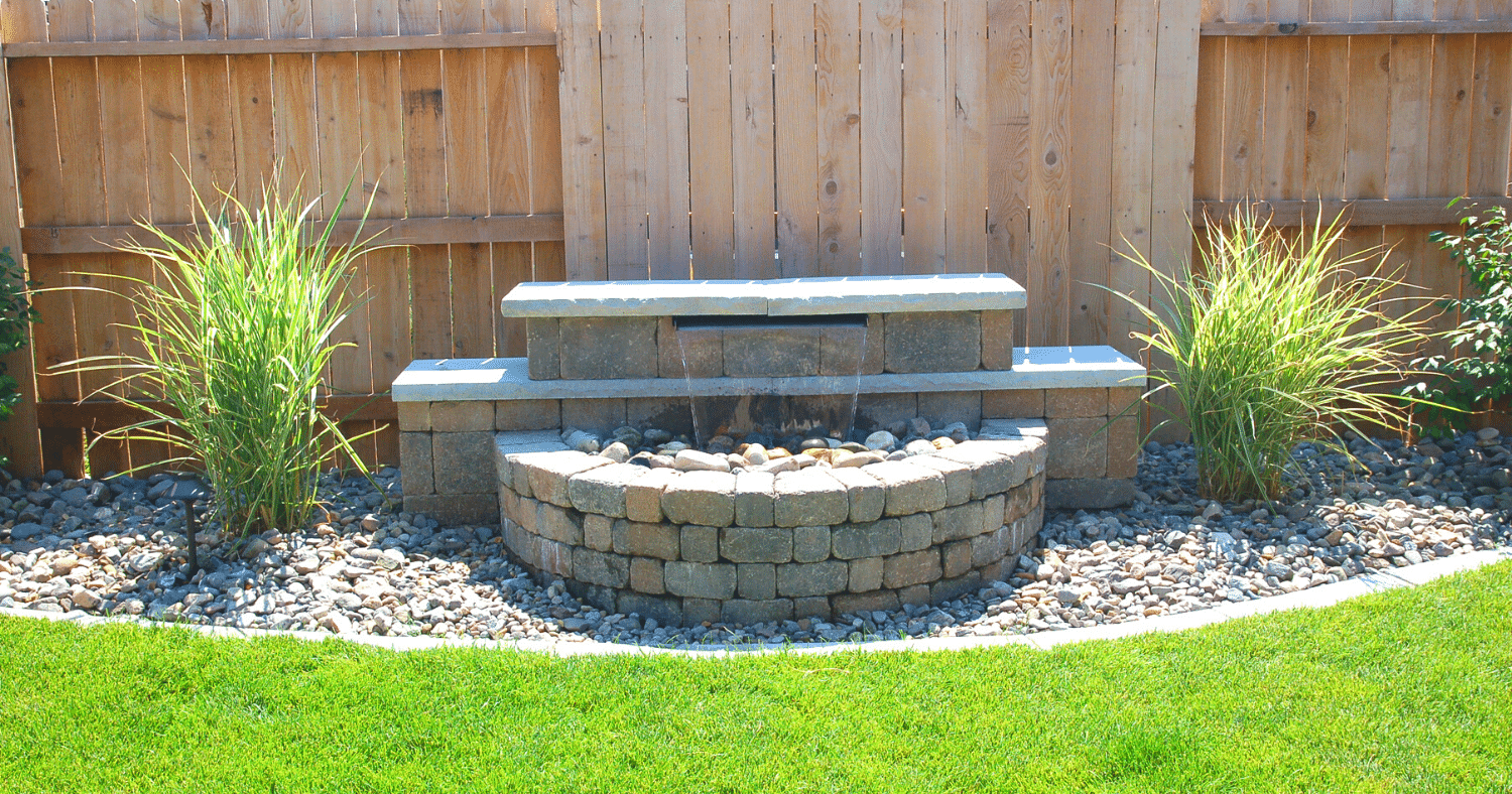 water feature paver