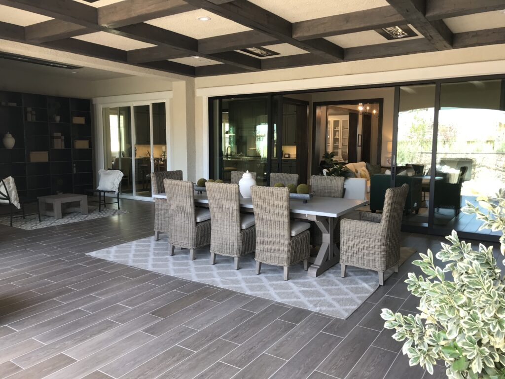luxury resort-style dining area