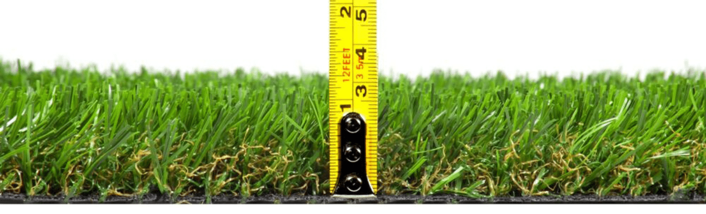 artificial turf height