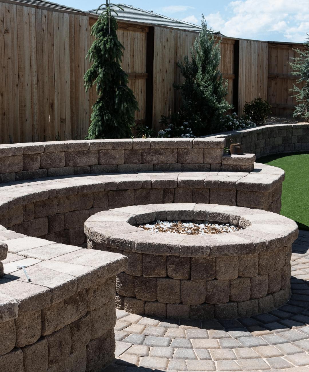 reno installation fire pit pavers
