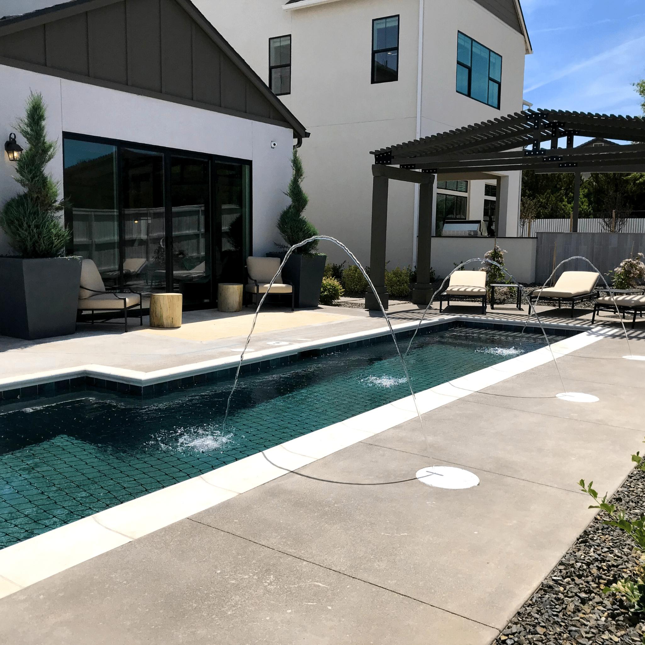 poolside luxury planting
