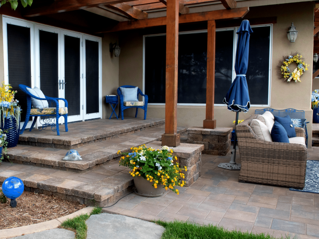 paver patio and seating