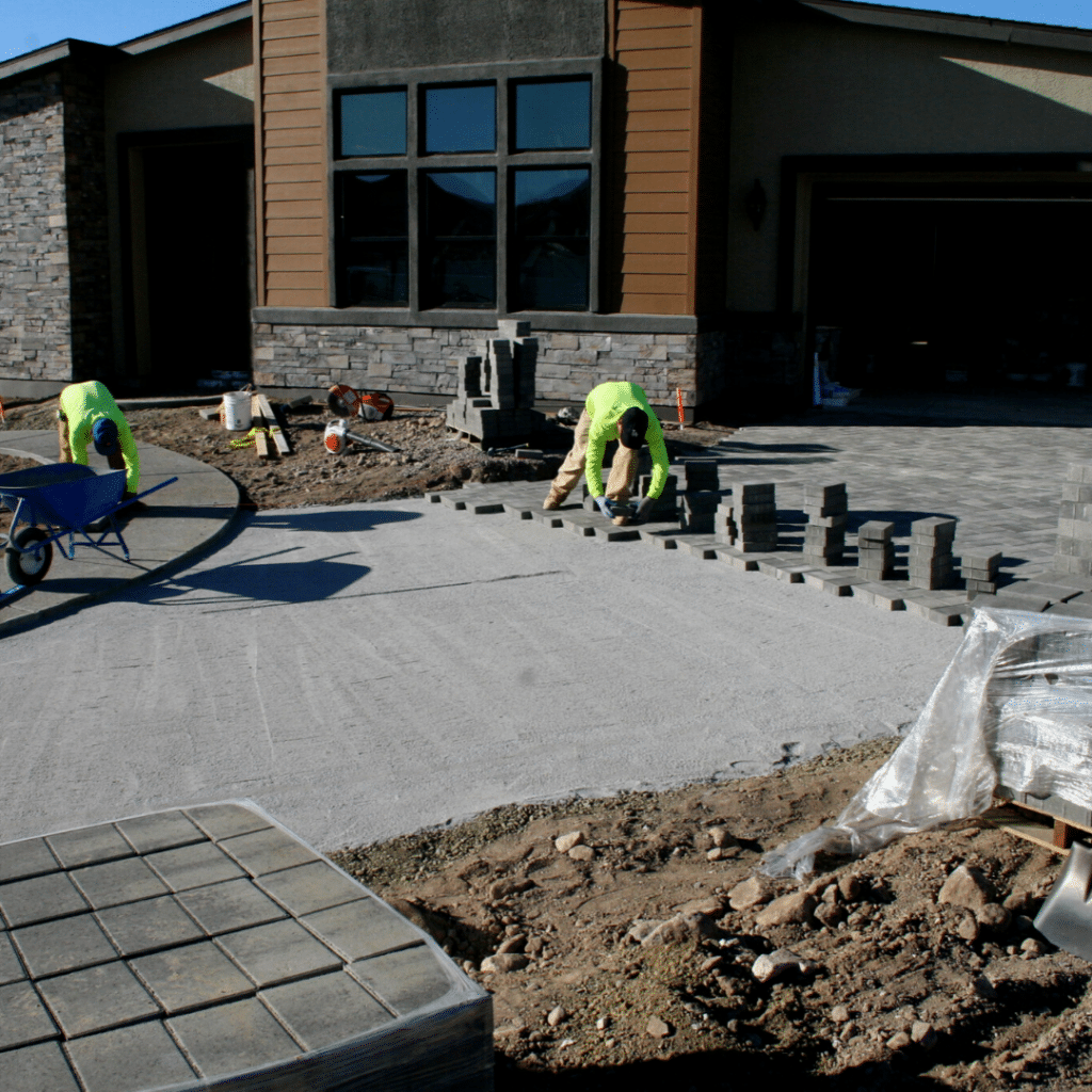 paver driveway full-service landscaping