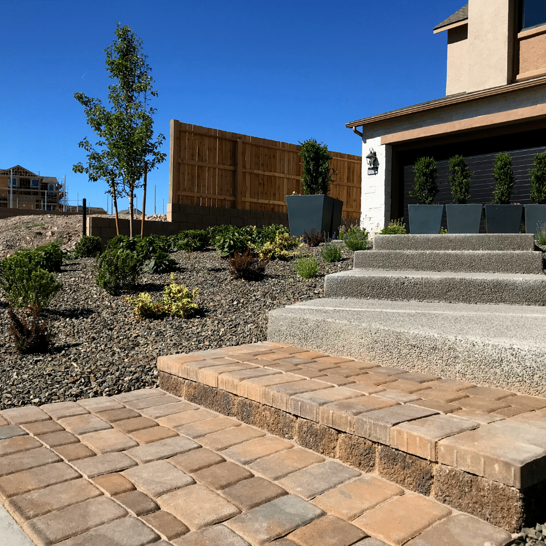 front paver steps