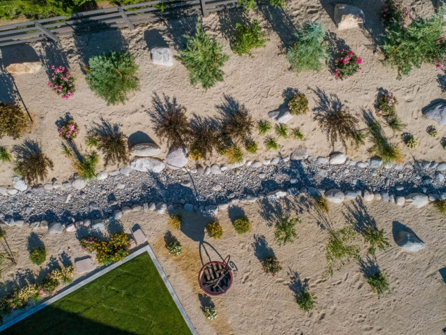 xeriscaping dry creek bed