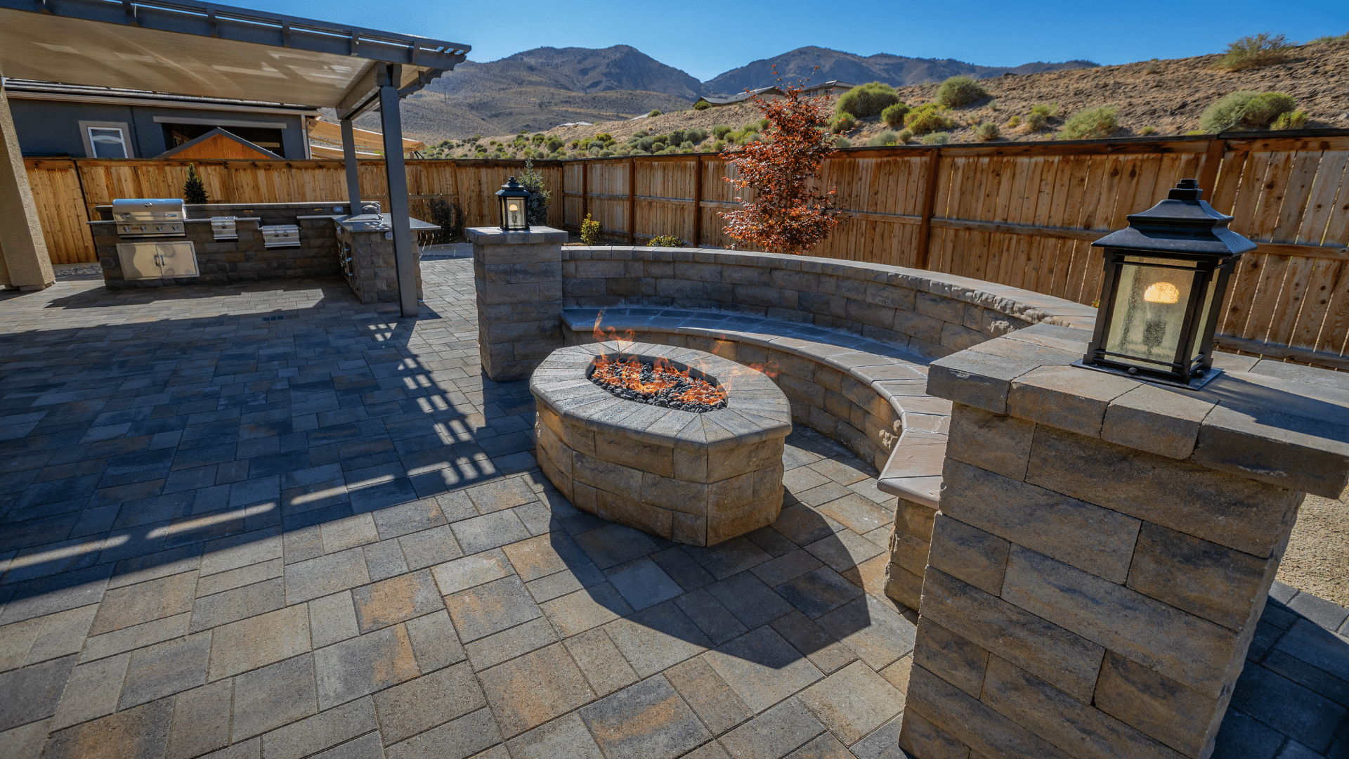 hardscaping reno fire pit